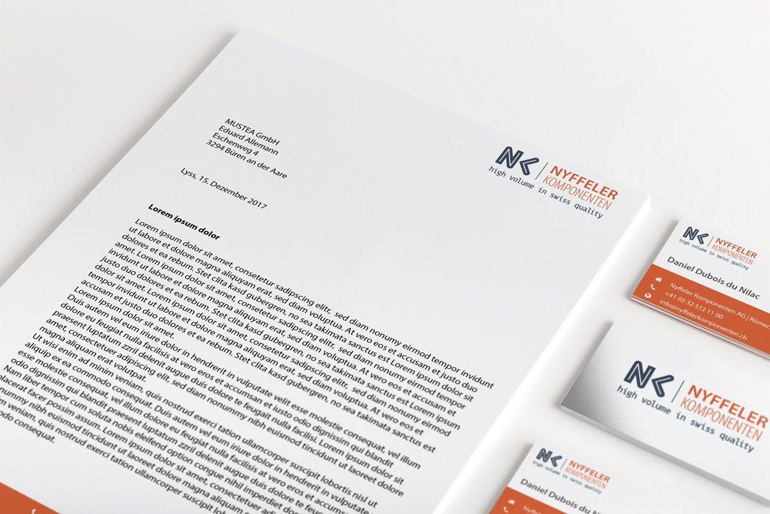 Logodesign Briefpapier Und Visitenkarten Nyffeler