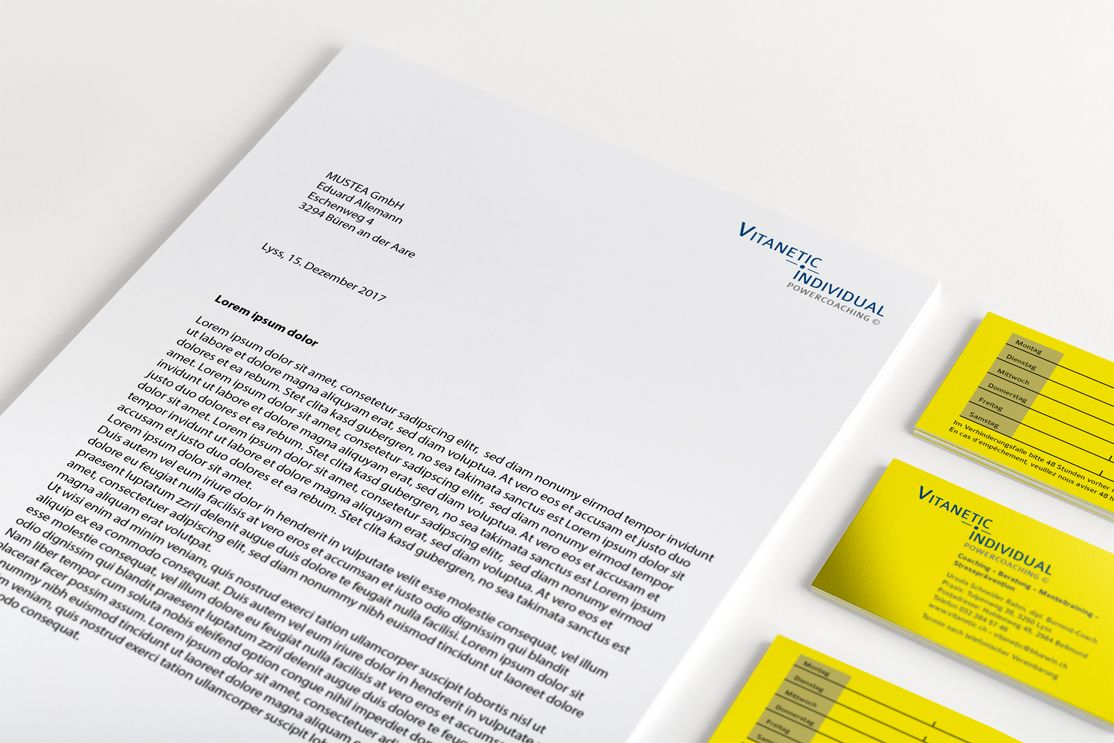 Logodesign Briefpapier Und Visitenkarten Vitanetic Power